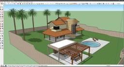 Desenhos 3D 2D, Animações, Plantas, Projetos mecânicos, móveis