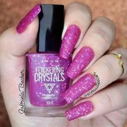 Esmalte Efeito Glítter Crystals Avon 10ml Cor: Pink Brilho Santana-AP NOVA BRASÍLIA