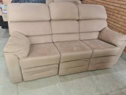 Sofa reclinável 3 lugares