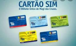 Cartão SIM bilhete ônibus mogi das cruzes