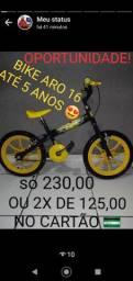 Bicicleta infantil aro 16 maisculino