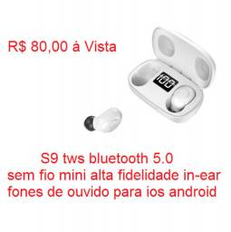 Fones S9 tws bluetooth 5.0 sem fio mini alta fidelidade