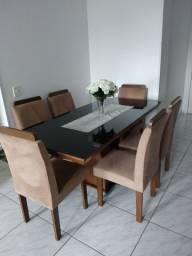 Mesa de jantar 6 lugares vidro