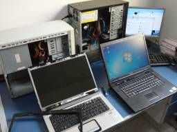 Montagem e manutenção de computadores e notebooks, instalação de redes