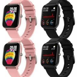 Smartwatch P8 Preto ou Rosa - Entrega Grátis