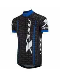 Camisa de ciclismo reflector pta.azul tam. GG nova