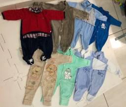 Lote de roupa bebê menino