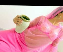 Roupa Dança do Ventre Folclore.3 peças saia, vestido e lenço cabeça