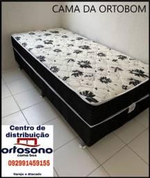 Cama box solteiro de espuma, entregamos em toda Manaus