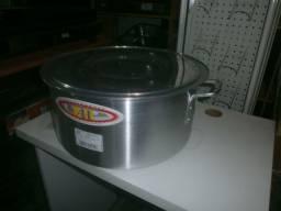 Panela de aluminio - nova - diametro de 40cm - 23 litros