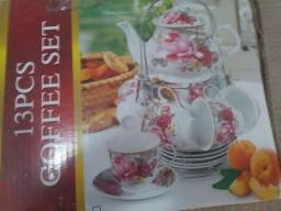 Conjunto de chá/café  em louça