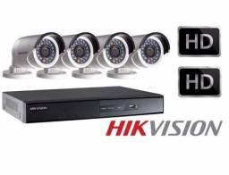 Sistema com 4 cameras instalado com acesso remoto pelo celular