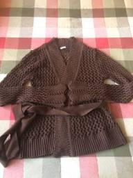 Casaco tricot marrom p