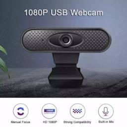 Webcam Full HD 1080p para Videoconferência com Microfone USB True Color Foco Manual