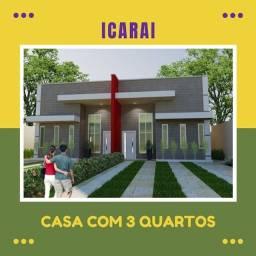 Icaraí - Casa em construção com 3 quartos - Entrada parcelada