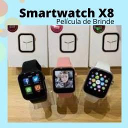 Relogio Smartwatch X8  Troca Fotos da Tela Faz Chamadas (película de Brinde)