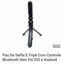 Tripé  e pau de selfie 2 em 1