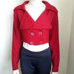 Casaco lã curto feminino