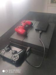 Playstation 4 + case 1terab + 2 controles