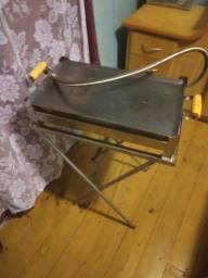 Fritadeira a gás e chapa para lanches 2 bocas