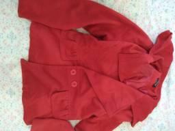 Casaco vermelho(lã patida) e blaser rosa.