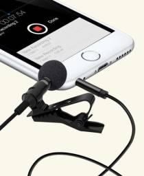 Microfone de lapela para smartphone