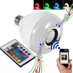 COD:0035 Lampada Bluetooth Led Rgb Branco Caixa Som Musical