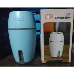 Mini Umidificador De Ar Eletrico Ultrassonico Led 300ml Usb ? Mc Umidifier