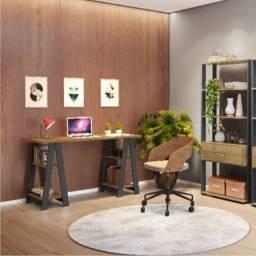 Título do anúncio: Conjunto Home Office Mesa Vigor e Livreiro Emoção