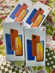 IMPERDÍVEL - Xiaomi Redmi 9c 64GB tela 6.53 laranja azul e cinza