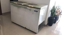 Freezer horizontal metal frio