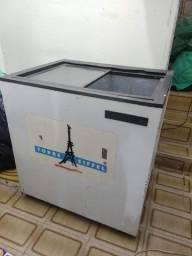 Freezer Reubly horizontal expositor com tampa de vidro - Usado