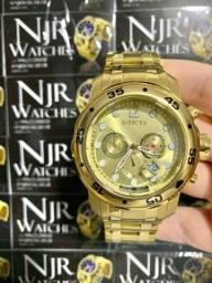 Relógio Invicta pro diver banhado a ouro lacrado novo