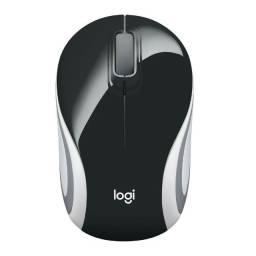 Mini Mouse Logitech M187 Sem Fio Preto 1000DP - Loja Natan Abreu