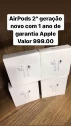 Apple AirPods 2º Geração LOJA FÍSICA