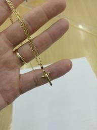 Corrente e pingente de ouro 18k 5g