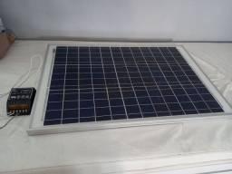 placa solar e controlador