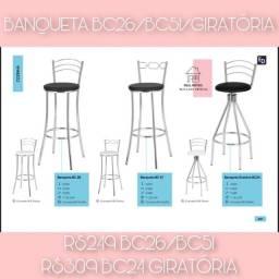 Banqueta BANQUETA ALTA CROMADA BC26