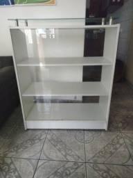Balcão caixa compacto e Balcão atendimento vitrine