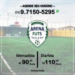 Locação de quadra society para prática do futebol - Diarista