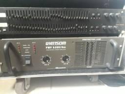 Potência PWP8000 + Equalizador  +Rack