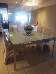 Mesa de jantar com inox. Excelente qualidade