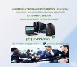 Suporte técnico em informática para Pcs e Notebooks - em domicilio e empresa