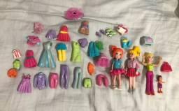 Boneca Polly com roupinhas,sapatinhos e acessórios