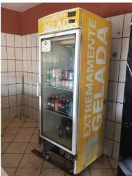 Freezer vertical porta de vidro