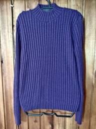 813 - Blusa de lã feminino roxo - Tam M