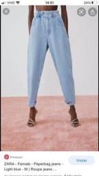 Jeans Bag Zara nova com etiqueta