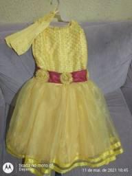 Vestido da bela e a Fera veste 7 ano e 8