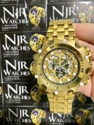 Relógio Invicta Venom hybrid banhado a ouro lacrado