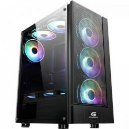Gabinete gamer fortrek Mid Tower 3coolers RGB incluso